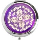 Magnum Feel The Style Cosmetic Mirror Round 128 B Purple (Pocket Mirror Eastern Ornaments Nickel Base 7cm)