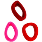 Magnum Hair Fashion Coloured Hair Elastics Red 3 pc
