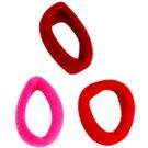 Magnum Hair Fashion gomas de algodón para el cabello Red 3 ud