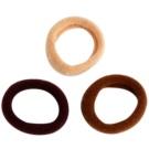 Magnum Hair Fashion gomas de algodón para el cabello Brown 3 ud