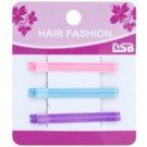 Magnum Hair Fashion klassische bunte Haarklammer Pink, Blue, Violet 6 St.