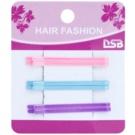 Magnum Hair Fashion класичні різнокольорові заколки-хлопушки для волосся Pink, Blue, Violet 6 кс