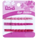 Magnum Hair Fashion Ganchos com glitter  Pink, Violet, Red 6 un.