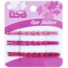 Magnum Hair Fashion klasične barvne lasnice za lase z bleščicami Pink, Violet, Red 6 kos