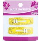 Magnum Hair Fashion barvne sponke za lase z zvezdicami Yellow 2 kos