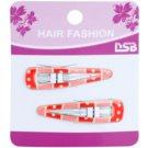 Magnum Hair Fashion kolorowe spinki do włosów Red 2 szt.