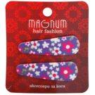 Magnum Hair Fashion фиби за коса с цветчета Violet 2 бр.