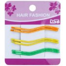 Magnum Hair Fashion Coloured Hair Pins Wave-Shaped Orange, Yellow, Green 6 pc