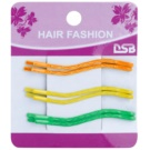 Magnum Hair Fashion horquillas de colores onduladas para el cabello  Orange, Yellow, Green 6 ud