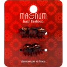Magnum Hair Fashion pinzas para el cabello Brown 5 ud