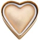 Makeup Revolution I ♥ Makeup Blushing Hearts világosító púder arany istennő  10 g