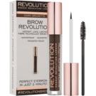 Makeup Revolution Brow Revolution fixační gel na obočí odstín Dark Brunette 3,8 g