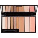 Makeup Revolution Euphoria Bronzed multifunkční paleta se zrcátkem a aplikátorem  18 g