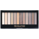 Makeup Revolution Essential Shimmers paleta farduri de ochi (12 Color) 14 g