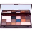 Makeup Revolution I ♥ Makeup I Heart Chocolate палетка тіней з дзеркальцем та аплікатором відтінок Salted Caramel (16 Eyeshadows) 22 гр