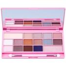 Makeup Revolution I ♥ Makeup I Heart Chocolate paleta očních stínů se zrcátkem a aplikátorem odstín Pink Fizz (16 Eyeshadows) 22 g