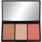 Makeup Revolution Iconic paleta pentru contur facial culoare Flush (Blush Bronze & Brighten) 11 g