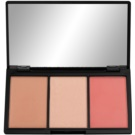 Makeup Revolution Iconic paleta pentru contur facial culoare Rave (Blush Bronze & Brighten) 11 g