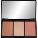 Makeup Revolution Iconic paleta pentru contur facial culoare Golden Hot (Blush Bronze & Brighten) 11 g