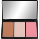 Makeup Revolution Iconic Palette To Facial Contours Color Smoulder (Blush Bronze & Brighten) 11 g
