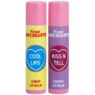 Makeup Revolution Love Hearts balzam na pery Lemon & Cherry 2 x 3,2 g