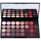 Makeup Revolution Flawless Matte 2 paleta očních stínů se zrcátkem (32 Ultra Professional Eyeshadows) 20 g