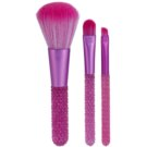 Makeup Revolution I ♥ Makeup Pink Diamonds set de mini-pensule (Mini Gem Brush Set) 3 buc
