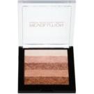 Makeup Revolution Shimmer Brick bronzer a rozjasňovač 2 v 1 odstín Radiant