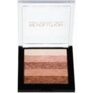 Makeup Revolution Shimmer Brick Bronzer und Highlighter 2in1 Farbton Radiant 7 g