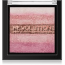 Makeup Revolution Shimmer Brick Bronzer und Highlighter 2in1 Farbton Pink Kiss 7 g