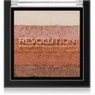 Makeup Revolution Shimmer Brick бронзер та освітлювач 2в1 відтінок Bronze Kiss 7 гр