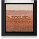 Makeup Revolution Shimmer Brick Bronzer und Highlighter 2in1 Farbton Bronze Kiss 7 g