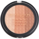Makeup Revolution Ultra Bronze Shimmer HIghlight highliting Bronzer Puder  15 g