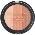 Makeup Revolution Ultra Bronze Shimmer HIghlight Bronzing Highliting Powder (Bronze-Shimmer-Highlight) 15 g