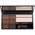 Makeup Revolution Ultra Brow paleta za ličenje obrvi odtenek Medium to Dark (The Ultimate Brow Enhancing Kit) 18 g