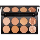Makeup Revolution Ultra Bronze paleta do konturowania twarzy (Ultra Professional Bronze Palette) 13 g