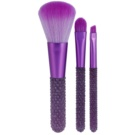 Makeup Revolution I ♥ Makeup Unicorns Unite sada mini štetců (Mini Gem Brush Set) 3 Ks