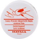 Mavala Accesories Nail Polish Remover Pads Without Acetone  30 pc