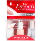 Mavala French Manicure Silver francia manikűr szett árnyalat No. 22 Geneve + No. 90 Arosa + Minute Quick-Finish 3 x 5 ml