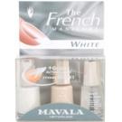 Mavala French Manicure White set za francosko manikuro odtenek No. 49 White + No. 91 Reno + Minute Quick Finish) 3 x 5 ml