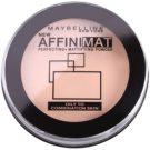 Maybelline AffiniMat púder matt hatásért árnyalat 20 Nude Beige (Oily and Combination Skin) 16 g
