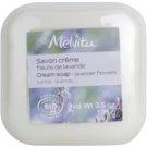 Melvita Savon cremige Seife mit Bambus Butter Lavender Flowers 100 ml