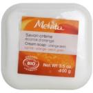 Melvita Savon sabonete cremoso  com manteiga de karité  Orange Zest 100 ml