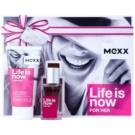 Mexx Life is Now for Her dárková sada I.  toaletní voda 15 ml + tělové mléko 50 ml