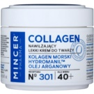 Mincer Pharma Collagen N° 300 ľahký hydratačný krém 40+ N ° 301 (Marine Collagen, Hydromanil, Argan Oil) 50 ml