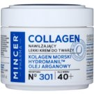 Mincer Pharma Collagen N° 300 leichte feuchtigkeitsspendende Creme 40+ N ° 301 (Marine Collagen, Hydromanil, Argan Oil) 50 ml