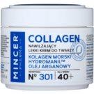 Mincer Pharma Collagen N° 300 ľahký hydratačný krém 40+ N ° 301 (Marine Collagen, Hydromanil, Argan Oil) 50 ml