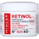 Mincer Pharma Retinol N° 500 feuchtigkeitsspendende Creme gegen Falten 40+ N° 501 (Retinol, Avocado Oil, Oxylastil) 50 ml