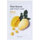 Missha Pure Source mascarilla hoja con efecto humectante Mango 21 g