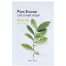 Missha Pure Source mascarilla hoja con efecto calmante Green Tea 21 g